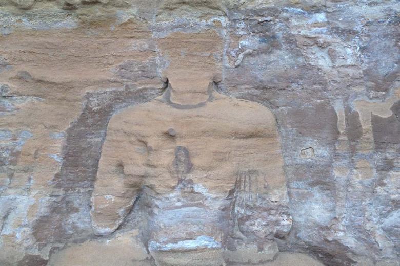 eroded buddha sandstone nwchina